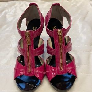 MICHAEL KORS Hot Pink Zipper Heels
